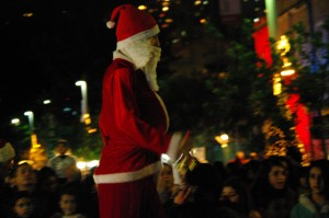 Santa on Stilts